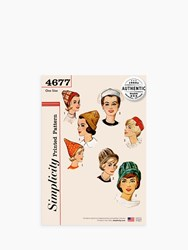 Simplicity 'S Vintage Hats Sewing Pattern 4677