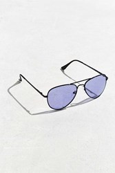 Urban Outfitters Purple Knoxville Aviator Sunglasses Black