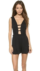 Morgan Lane Dree Sleep Romper Noir Noir