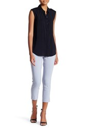 Insight Solid Techno Pull On Cropped Pant Gray