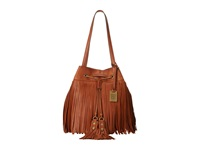 Frye Heidi Fringe Bucket Whiskey Soft Vintage Leather Shoulder Handbags Tan