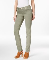 Inc International Concepts Olive Wash Skinny Jeans Only At Macy's Olive Drab