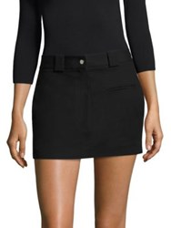 Helmut Lang Stretch Cotton Mini Skirt Black