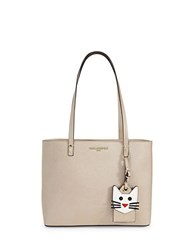 Karl Lagerfeld Maybelle Leather Tote Taupe