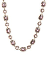 Judith Jack Elegant Evening Sterling Silver And Crystal Collar Necklace Purple