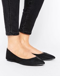 Oasis Point Ballet Pump Black