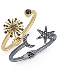 Inc International Concepts 2 Pc. Set Astronomical Pave Crystal Hinged Bracelets Created For Macy's Multi