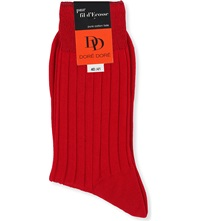 Dore Dore Ribbed Pure Cotton Socks Red