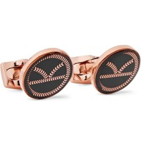 Kingsman Deakin And Francis Rose Gold Tone And Resin Cufflinks