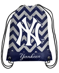 Forever Collectibles New York Yankees Chevron Drawstring Backpack Navy