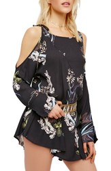 Free People Women's Clear Skies Cold Shoulder Tunic Black