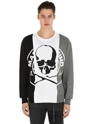 Mastermind World Skull Patchwork Cotton Sweatshirt Black Grey