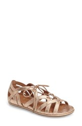 Gentle Souls Women's 'Orly' Lace Up Sandal Rose Gold Leather