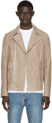 Helmut Lang Beige Leather Perfecto Jacket