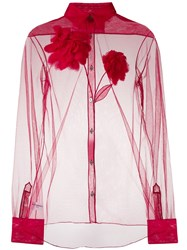 Viktor And Rolf Blooming Dhalia Shirt Red