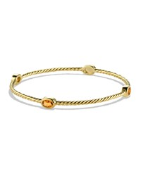 Color Classics Four Station Bangle With Citrine In Gold David Yurman