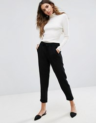 Only Relaxed Tailored Trousers Black