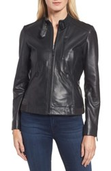 Bernardo Women's Jetta Knit Detail Leather Scuba Jacket