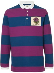 Kent And Curwen Long Sleeved Rose Polo Shirt Multicolour