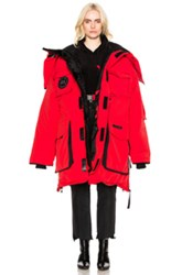 Vetements X Canada Goose Oversized Fold Up Parka In Red