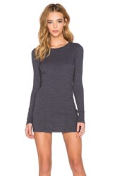Three Dots Long Sleeve Tunic Blue