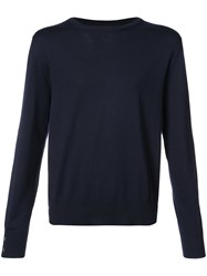 Thom Browne Crew Neck Jumper Wool Blue