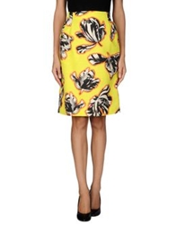Jonathan Saunders Knee Length Skirts Acid Green