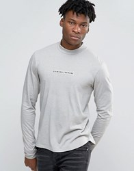 Criminal Damage Long Sleeve T Shirt With Turtle Neck Stone Beige