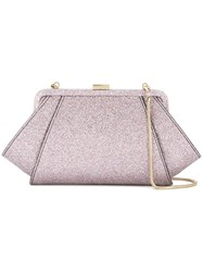 Zac Posen Glitter Clutch Pink And Purple