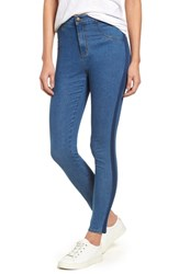 Nordstrom High Waist Crop Denim Leggings Denim Stripe