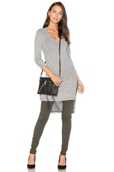 Splendid Long Sleeve Hi Lo Tunic Gray