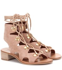See By Chloe Suede Sandals Neutrals