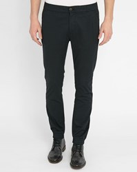 Selected Black Lawn Elasticated Ankle Slim Fit Trousers