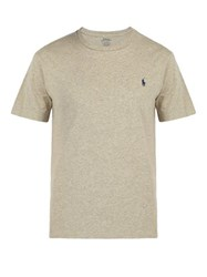 Polo Ralph Lauren Logo Embroidered Cotton Jersey T Shirt Grey