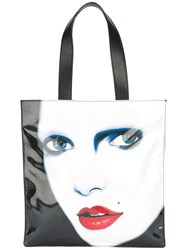 Jeremy Scott Printed Tote Women Leather Polyester One Size Black