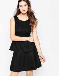 Vila Sleeveless Peplum Top Black