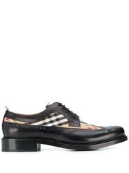 Burberry Vintage Check Lace Up Brogues Black