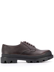 Prada Lace Up Brogues Brown