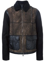 Giorgio Brato Panelled Jacket Brown