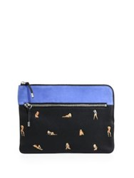 Alexander Wang Leather Ipad Pouch Black Multicolor