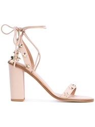 Red Valentino Star Detail Sandals Women Calf Leather Leather 36.5 Pink Purple