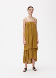 Black Crane 'S Double Cami Dress In Olive Size Xs Rayon Cotton