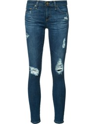 Ag Jeans Ripped Cropped Blue