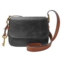 Fossil Harper Leather Small Across Body Bag Black