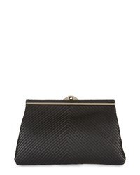 Jaeger Quilted Framed Clutch Black
