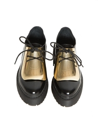 Pixie Market Jeffrey Campbell Gold Meade Brogue