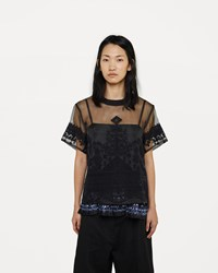 Sacai Tribal Lace Organza Top