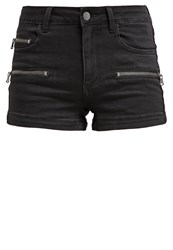 Evenandodd Denim Shorts Black Denim