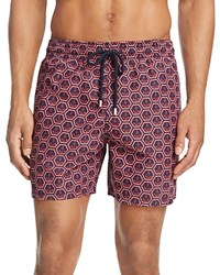 Vilebrequin Moorea Anchor Swim Trunks Navy