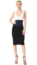 Narciso Rodriguez Sleeveless Dress White Navy Black